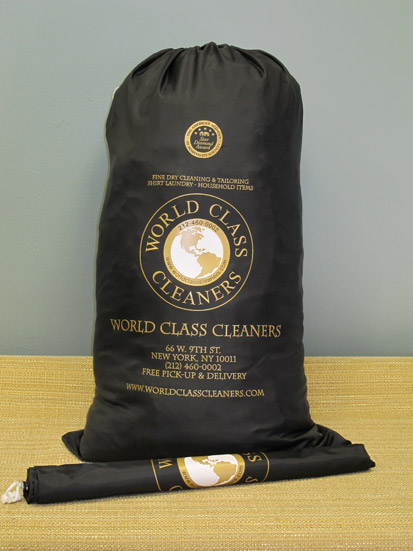 World Class Cleaners garment bag