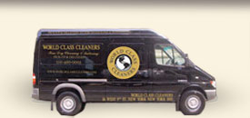 World Class Cleaners truck